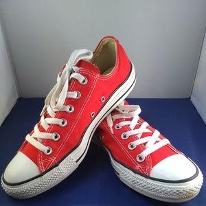 Unisex Red Converse Shoes, Sz M=7 W=9